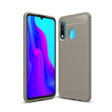 "TPU gelový obal ""Brushed Carbon"" pro Huawei P30 Lite - šedý"