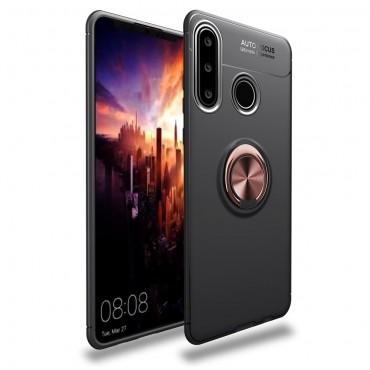 "TPU gelový obal ""Multi Ring"" pro Huawei P30 Lite - černo-růžový"