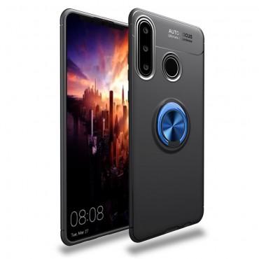 """TPU gelový obal """"Multi Ring"""" pro Huawei P30 Lite - černo-modrý"""