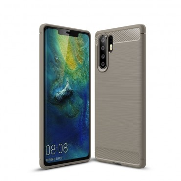 "TPU gelový obal ""Brushed Carbon"" pro Huawei P30 Pro - šedý"
