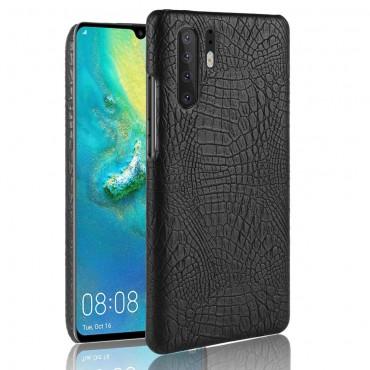"""Obal z umělé kůže """"Croc"""" pro Huawei P30 Pro - černý"""