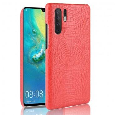 """Pouzdro """"Croc"""" pro Huawei P30 Pro z umělé kůže - červené"""