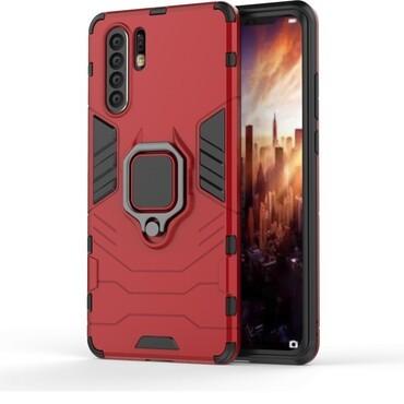 """Robustní kryt """"Impact X Ring"""" pro Huawei P30 Pro - červené"""