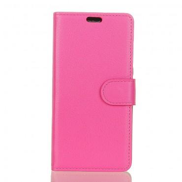 """Elegantní pouzdro """"Litchi"""" pro Huawei P30 Pro - růžové"""