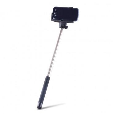"""Roztažitelná Bluetooth selfie tyč """"Quick Snap"""" pro mobilní zařízení - černá"""