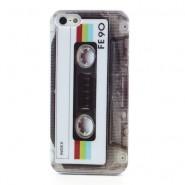 "Kryt TPU gel ""Retro Casette"" pro iPhone SE / 5 / 5S"