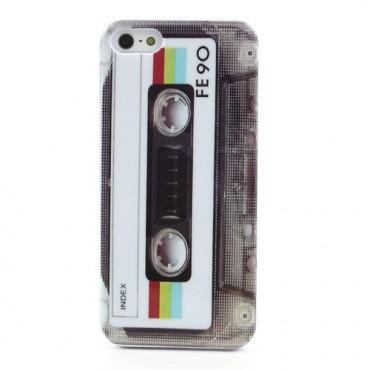 "TPU gelový obal ""Retro Casette"" pro iPhone SE / 5 / 5S"