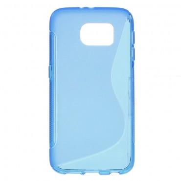 "Kryt TPU gel ""S-Line"" pro Samsung Galaxy S6 - modrý"