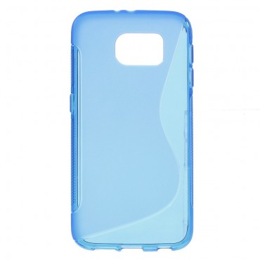 """TPU gelový obal """"S-Line"""" Samsung Galaxy S6 - modrý"""