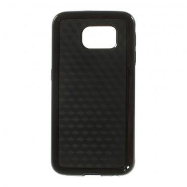 """Robustní TPU gelový obal """"3D Cube"""" pro Samsung Galaxy S6 - černý"""