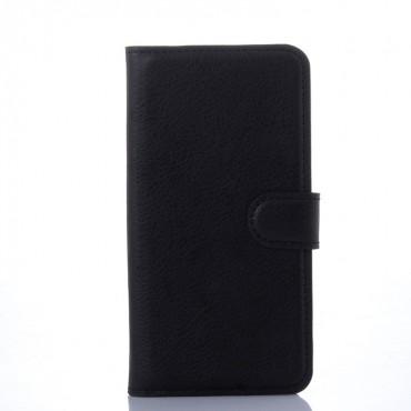 """Elegantní pouzdro """"Litchi"""" pro Samsung Galaxy S6 z umělé kůže - černé"""
