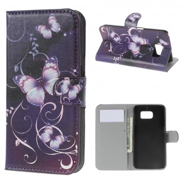 """Módní kryt """"Purple Butterfly"""" pro Samsung Galaxy S6"""