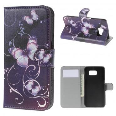 """Módní pouzdro """"Purple Butterfly"""" pro Samsung Galaxy S6"""