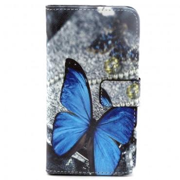 """Módní pouzdro """"Blue Butterfly"""" pro Samsung Galaxy S6"""