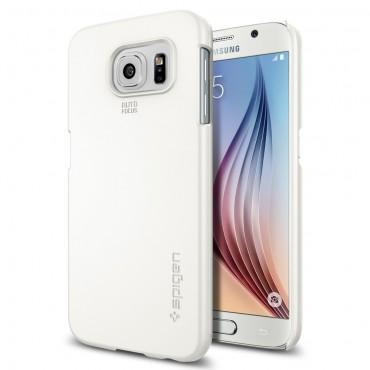 """Kryt Spigen SGP """"Thin Fit"""" pro Samsung Galaxy S6 - shimmery white"""