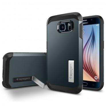 "Kryt Spigen SGP ""Tough Armor"" pro Samsung Galaxy S6 - metal slate"